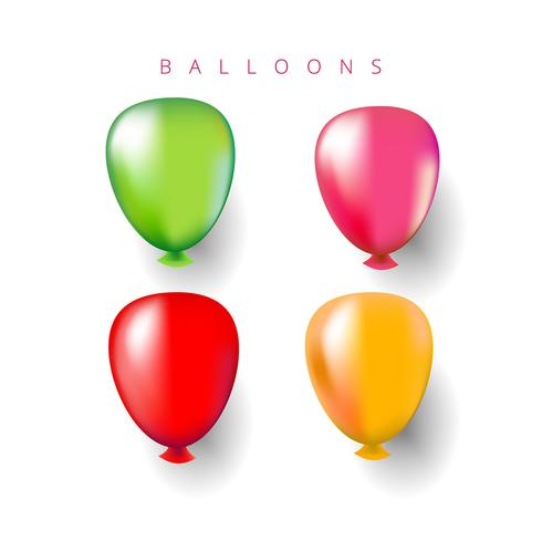 Multicolored Helium Balloons