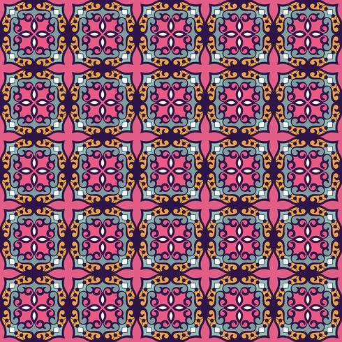 Vector damask seamless pattern background