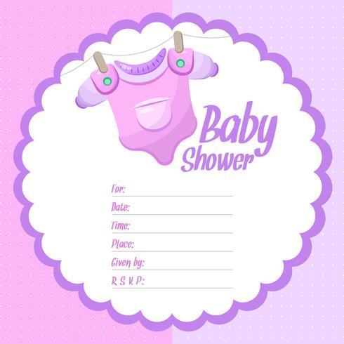 Fond de douche de bébé fille