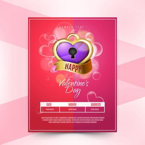 Folleto del día de San Valentín borrosa