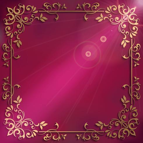 Elegant background with decorative frame