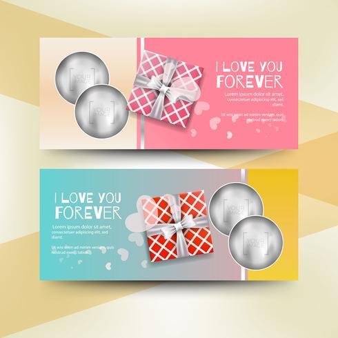 Valentijnsdag banner collectie
