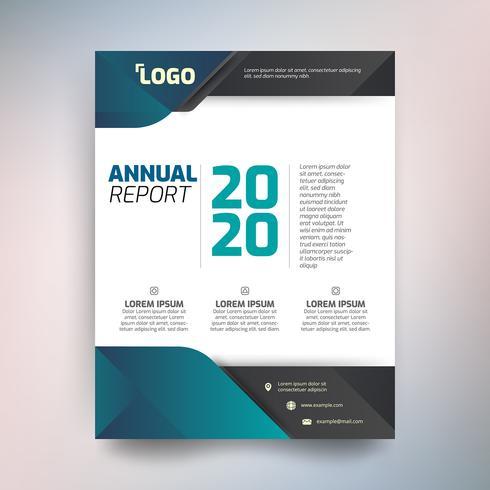 Modelo de relatório anual, desenho abstrato com tom verde