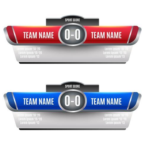 Diseño de elementos de marcador para fútbol y fútbol.