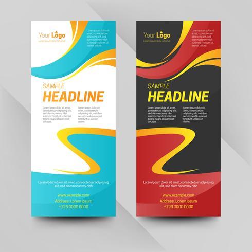 Banners de negocios abstractos