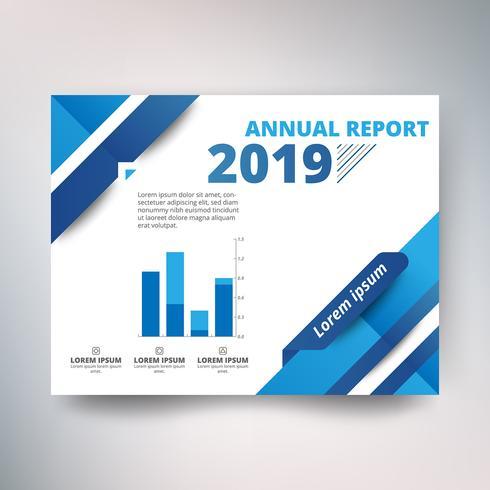 Modèle de rapport annuel, dessin abstrait avec ton bleu et bleu ciel