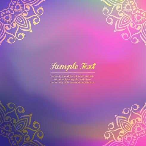 Ornamental Colored Background