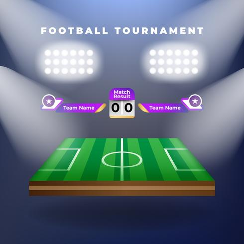 Vektor av fotbollslag med resultattavlan