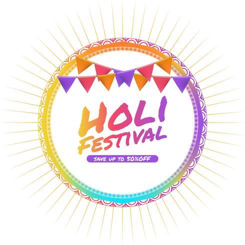 Fondo moderno del festival holi