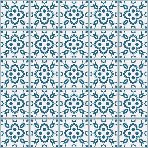 Motif de carreaux décoratifs. illustration vectorielle