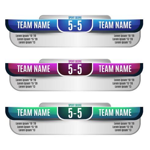 Scoreboardelement design för fotboll och fotboll