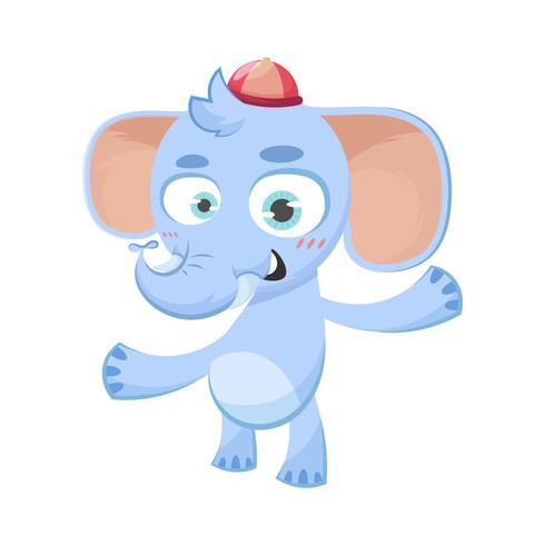 Nette Abbildung eines Elefanten