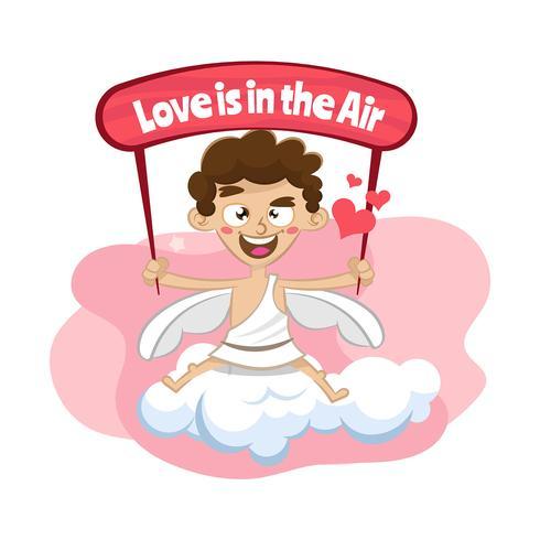 Cupid valentins dag bakgrund
