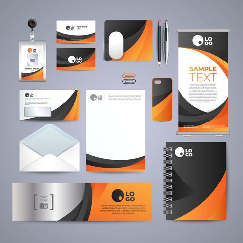 Design d'identità aziendale arancione