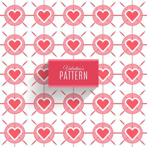 Seamless mönster av hjärtan