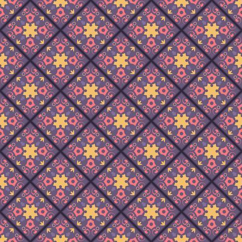 Decoratief tegelpatroonontwerp. vectorillustratie