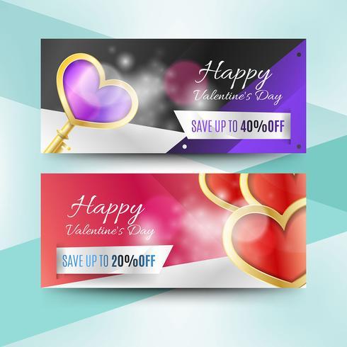 Alla hjärtans dag försäljning banderoller