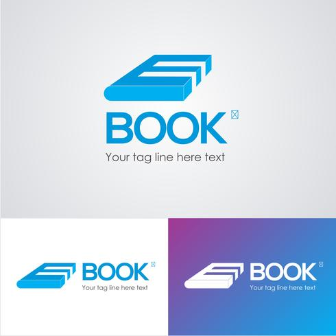 E Book Logo Design Template  vector