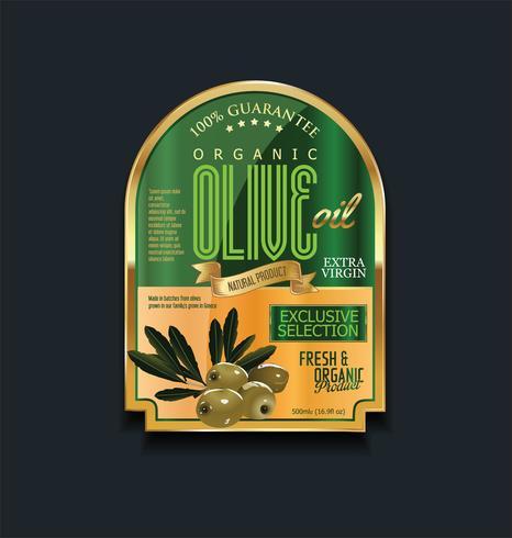Retro vintage gouden olijfolie achtergrondinzameling