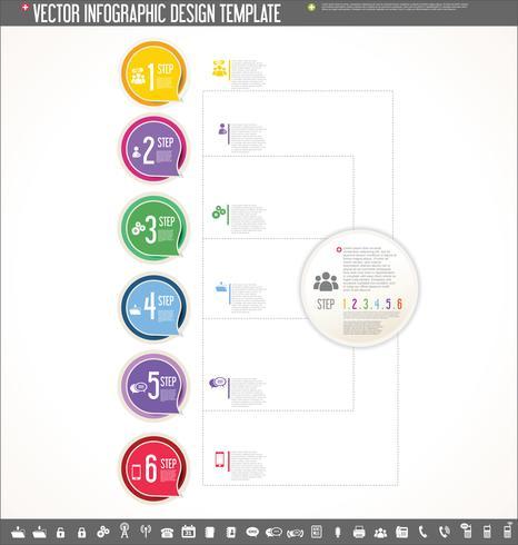 Vector diseño de infografía plantilla diseño colorido