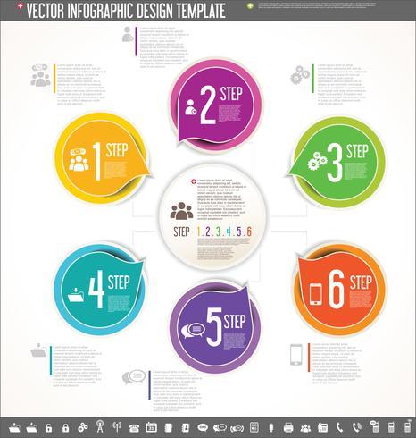 Buntes Design der Vektorinfographic-Designschablone