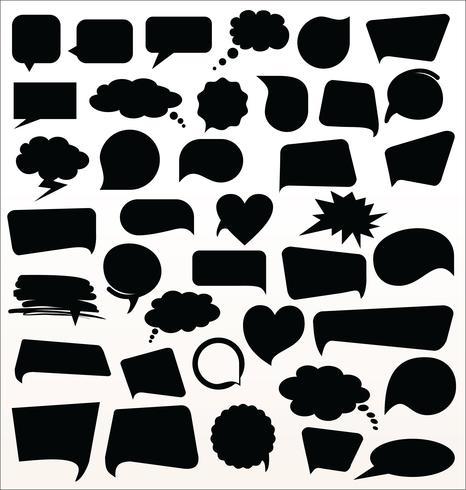 Zwarte spraak bubbels collectie