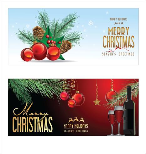 Palle rosse del fondo di Natale con le decorazioni