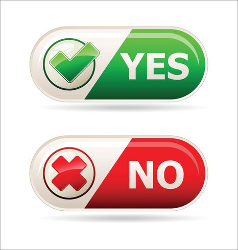 Yes and no sign vector