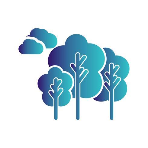icône d'arbres de vecteur