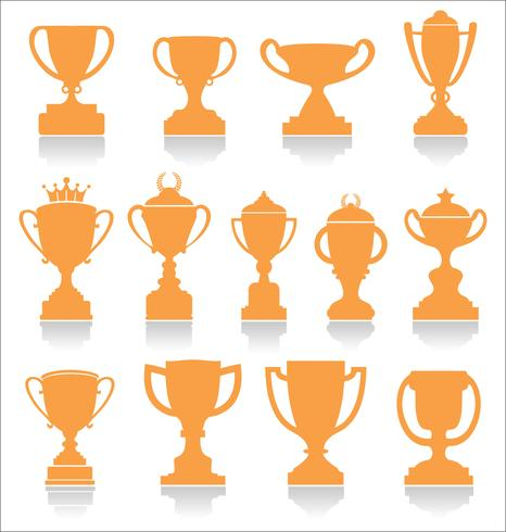Sports trophies and awards retro collection