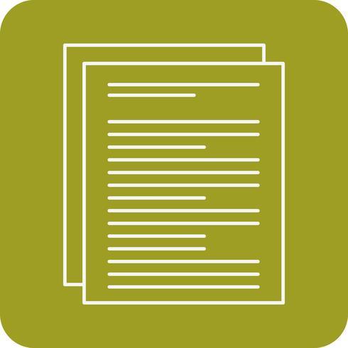 icono de documento vectorial