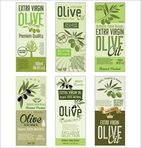 Retro vintage gouden olijfolie achtergrondinzameling vector