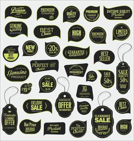Insignias modernas de pegatinas y colección de etiquetas. vector