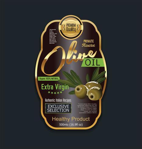 Collection de fonds d'huile d'olive doré vintage rétro