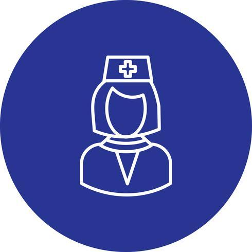 Vector female doctor icon