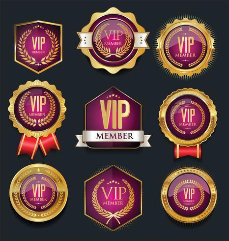 Colección de etiquetas VIP vector