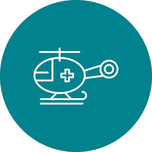 Vektor-Hubschrauber-Symbol