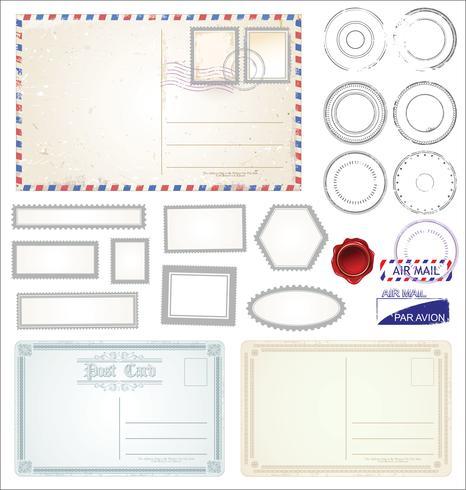 Briefkaart retro ontwerp