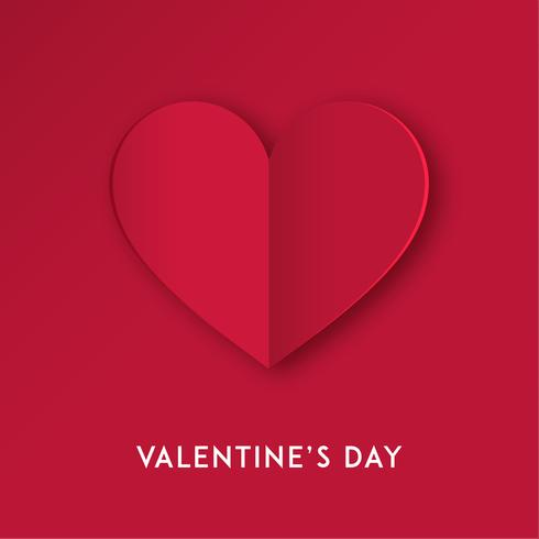 Papier coupé coeur d'amour pour la Saint-Valentin ou toute autre carte d'invitation d'amour. Vecteur
