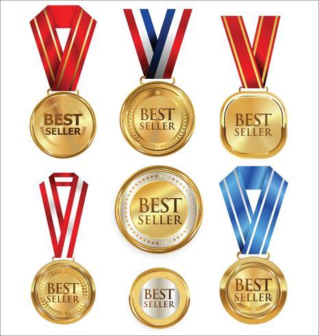 Ilustración vectorial de medalla de oro