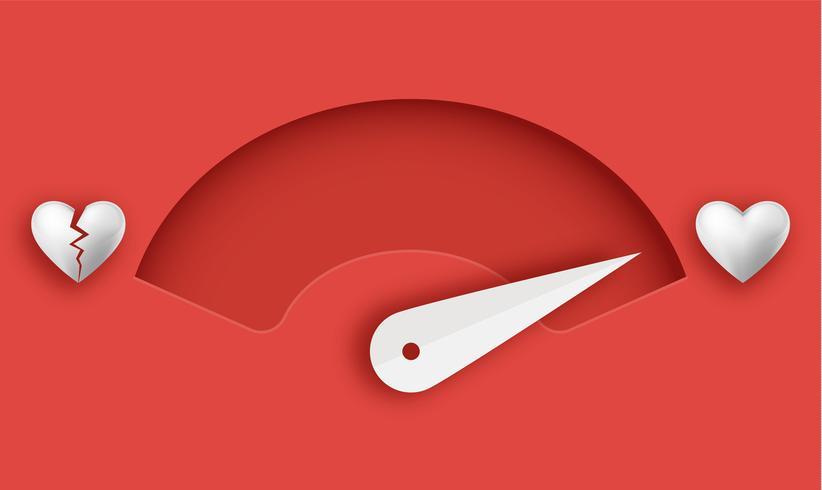 Love meter. Valentine's day card design element. - Vector