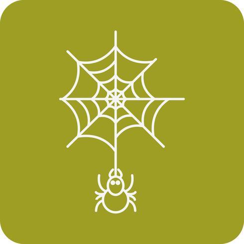 Vektor-Spinnen-Web-Symbol