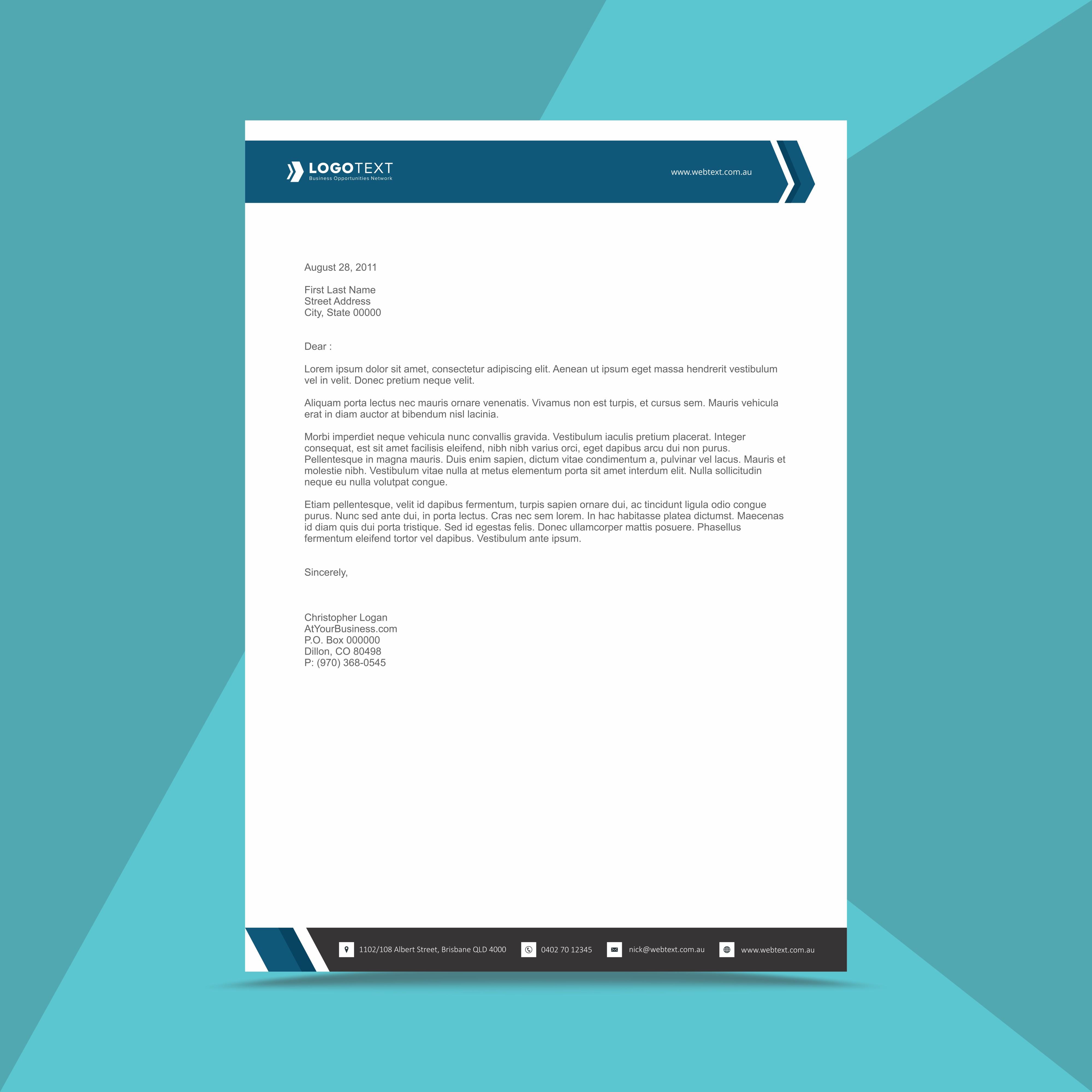 Letterhead Design Vector: Professional Business Letterhead Design Template