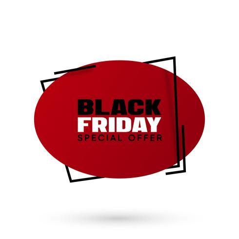 Ilustración de vector de venta de viernes negro