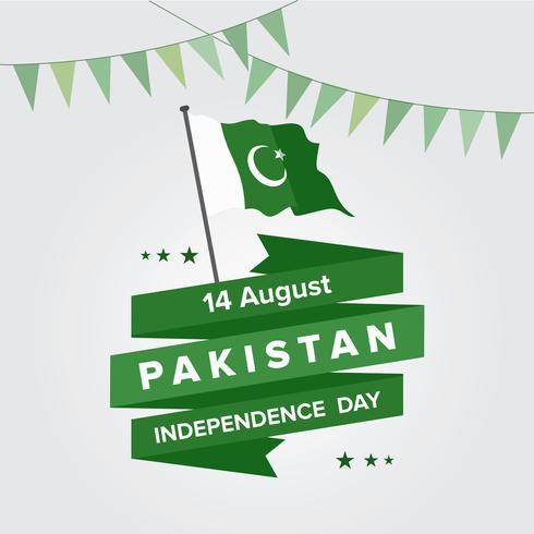 Glücklicher Unabhängigkeitstag 14. August Pakistan-Gruß-Karte