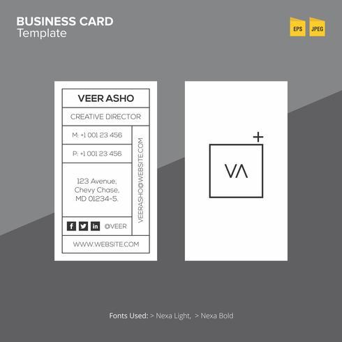 Professionele visitekaartje ontwerpsjabloon