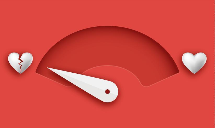 Metro d'amore Elemento di design di carta di San Valentino. - Vettore
