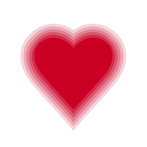 Röd blanda hjärta med transparent bakgrund. Vektor illustration