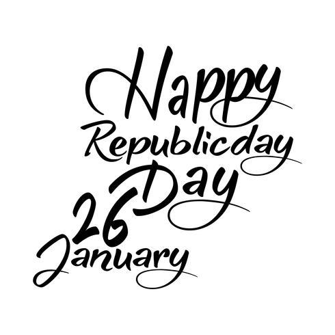 Concepto de día de la república india