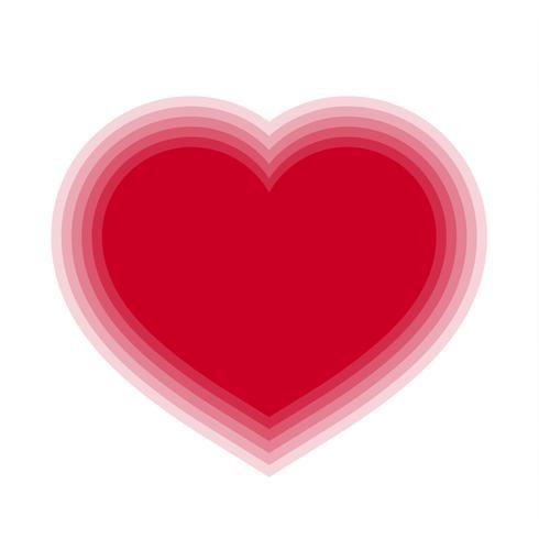 Rotes Mischungsherz mit transparentem Hintergrund. Vektor-Illustration